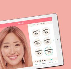 Brauen-Ausprobierer Wow your Brows auf dem iPad.