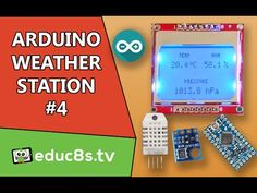 Arduino Project: Weather Station #4 using DHT22, BMP180 sensors and NOKIA 5110 LCD Arduino pro mini - YouTube