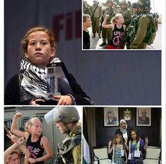 """""""باتت عهد التميمي رمزًا فلسطينيًا للشجاعة، تبلغ من العمر 14 عامًا - لفتت أنظار العالم بتحديها للجيش الاسرائيلي، الذين اعتدوا عليها وعلى والدتها الناشطة ناريمان التميمي وبنت عمها مرح التميمي في مسيرة سلمية مناهضة للاستيطان في قرية النبي صالح، في أغسطس 2012، في مشهد تناقلته وسائل إعلام عالمية. وقد تم تكريمها بجائزة """"حنظلة للشجاعة""""، الممنوحة لها من قبل بلدية """"باشاك شهير"""" في إسطنبول بتركيا. هي الآن تتعلم البرتغالية ولغات أخرى في مسعى لفضح جرائم الاحتلال أمام العالم كله."""""""
