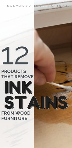 12 Products That Remove Ink Stains From wood Furniture Raw Wood Furniture, Unfinished Wood Furniture, Salvaged Furniture, Painted Furniture, Diy Furniture, Ink Stain Removal, Ink Stains, Dixie Belle Paint, Wood Pallets