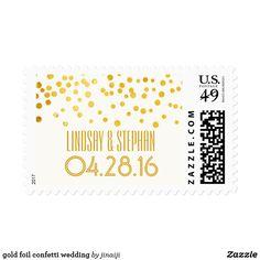 gold foil confetti wedding postage gold foil confetti wedding modern postage stamps