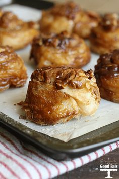 Flaky, buttery puff pastry with a delicious brown sugar pecan topping. These Easy Sticky Buns are perfect for breakfast, brunch, or even dessert!