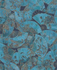 Fanfare by Matthew Williamson - Teal - Wallpaper : Wallpaper Direct Brave Wallpaper, Teal Wallpaper, Oriental Wallpaper, Photo Wall Collage, Picture Wall, Aesthetic Collage, Skam Aesthetic, Water Aesthetic, Rainbow Aesthetic