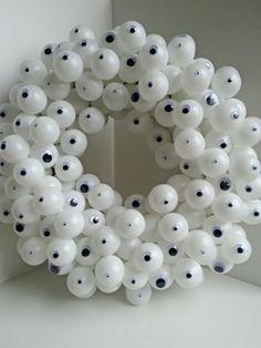 Halloween Wreath  Eyeballs by 3ArchesHomeGoods on Etsy, $29.99