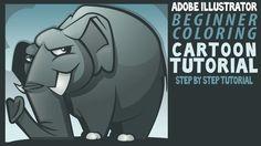 Adobe Illustrator Tutorials for Beginners: Elephant Color