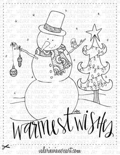 Check out my shop at valeriewienersart.com   #valeriewienersart #coloringpage #coloringpages #classroom #homeschool #instantprintable #christmascoloringpage #christmascoloringsheet #handlettering #handletteredart #homedecor #calligraphy  #creativelettering #handmade #digitalprint #christmasfun #christmascoloringbook #wintercoloringbook #snowman #warmestwishes #christmastree