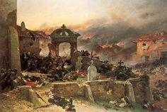 """Battle of Gravelotte, cemetary of St. Privat, August 18, 1870"" by Alphonse Marie de Neuville."