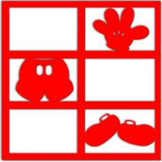Mickey in Pieces - Laser Die Cut Scrapbook Overlay