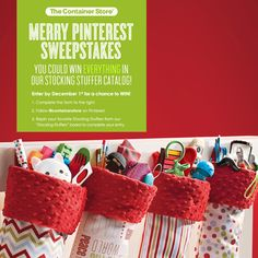 Win everything in the Container Store's stocking stuffer catalog!