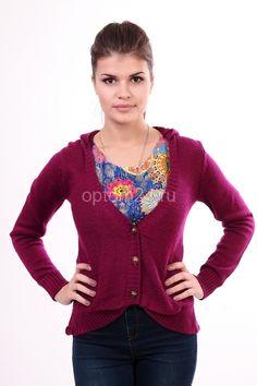 Кофта ярко-фиолетовая СК 34016 Размеры: 44-46 Цена: 400 руб.  http://optom24.ru/kofta-yarko-fioletovaya-sk-34016/  #одежда #женщинам #кофты #оптом24