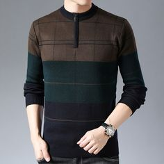 New Brand Slim Fit Casual Men's Pullover Sweater Mens Winter Sweaters, Men's Sweaters, Pullover Sweaters, Mens Knitted Cardigan, Elegant Man, Winter Wear, Script, What To Wear, Men Casual