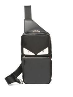 f5f1cb3f2d4c Saks Fifth Avenue Black Gold Backpacks Men Fendi Monster Crossbody Bag One  Shoulder Backpack, Backpack
