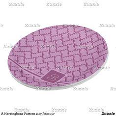 A Herringbone Pattern 2 Paper Plate