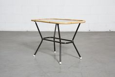 ROHE NOORDWOLDE BAMBOO AND GLASS SIDE TABLE