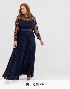 9ab5b67e72b5 ASOS DESIGN Curve dipped hem maxi dress with 3D embellishment and ...