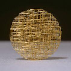 Giovanni Corvaja 1998. Brooch. 18K gold. d 68 mm  x 12 mm