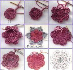Crochet Sunflower Pattern Crochet Flowers Fionitta Crochet Crochet Sunflower Pattern Free Crochet Flower Pattern How To Crochet A Rose Sewing And. Crochet Simple, Unique Crochet, Beautiful Crochet, Crochet Motifs, Crochet Flower Patterns, Crochet Flowers, Pattern Flower, Beau Crochet, Irish Crochet