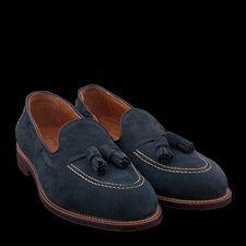 7b4e892fe3 Alden Sutter Tassel Mocc in Navy Suede 36959F Angle1 Shoe Company
