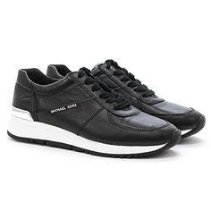 Michael Kors Sneaker Low Allie Trainer Black Leder Sport 41 - http://on-line-kaufen.de/michael-kors/41-eu-michael-kors-allie-trainer-sneaker