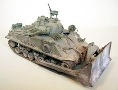 M4A3 Sherman with M1 Dozer Blade and HVSS Suspension
