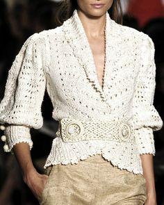 Knit Cardi by Oscar de la Renta