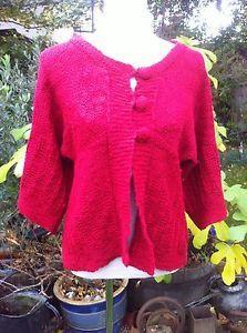 Red Chunky Per Una Cardigan Size M | eBay
