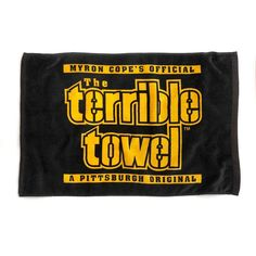 Picture of Pittsburgh Steelers Black Terrible Towel Steelers Terrible Towel, Steelers Helmet, Pnc Park, Nfl Gear, Pittsburgh Sports, Frat Coolers, Steeler Nation, Super Deal, Online Shopping Stores