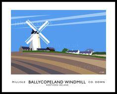 BALLYCOPELAND WINDMILL art print