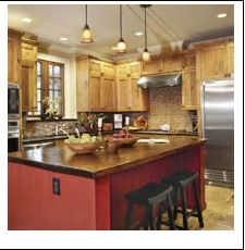 red kitchen islands - Bing Images | Kitchen | Pinterest | Red ...