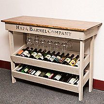Napa Vineyard Wine Table Rack & Console