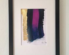 Abstrakte Kunst Abstract acrylic painting by VanDunDesign auf Etsy