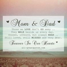 Those we love don't go away | Mom Dad Memorial Card | all-greatquotes.com