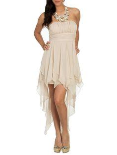 Chiffon Choker Shirred Dress  Style Number: 45839443 http://www.ardenb.com/catalog/category.jsp?categoryId=136