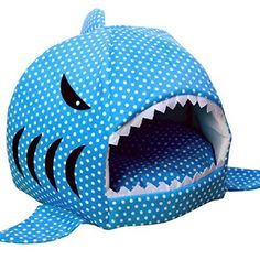 Egmy Fashion Pet Products Shark Warm Washable Cushion Mat Dog Cat House Bed Pet Basket House Pad Tent Bed (L, Blue) >>> Be sure to check out this helpful article. #DogHousesDoorbells