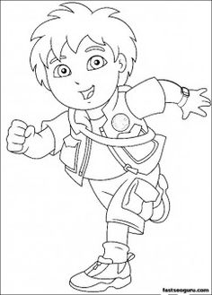 Printable Go Diego Go Disney Characters coloring page - Printable Coloring Pages For Kids
