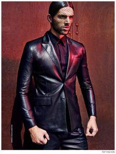 Frederik Muka Models Givenchy Fall 2014 for Top Fashion Magazine