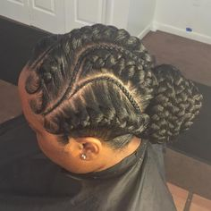 Goddess Braids Low Bun Updo # goddess Braids bun 70 Best Black Braided Hairstyles That Turn Heads Braid Bun Updo, Braided Bun Hairstyles, Braided Hairstyles For Black Women, African Braids Hairstyles, Braids For Black Hair, Braided Updo, Protective Hairstyles, Protective Styles, Wedding Hairstyles