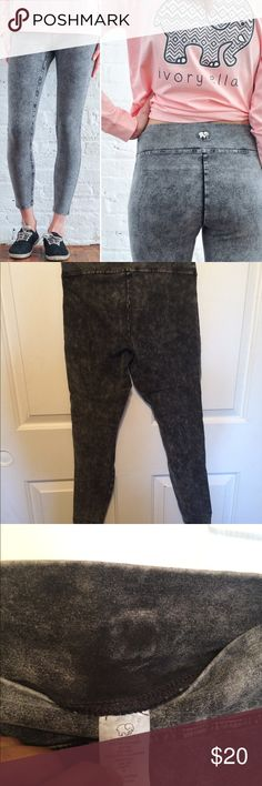 fa0027b3d Ivory Ella Leggings Size Medium acid washed leggings Run small! Would fit a  Small better ivory ella Pants Leggings
