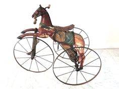 Endearing  Child's Horse Tricycle from France circa 1890