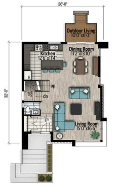 Town House Plans, Narrow House Plans, Two Story House Plans, Contemporary House Plans, Modern House Plans, Contemporary Bedroom, Modern House Design, Architectural Design House Plans, Architecture Design