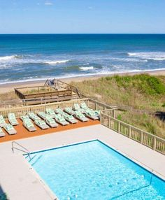 Pool View At Surf Side Hotel Outer Banks
