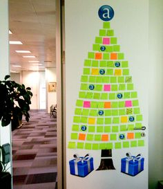 Tree of wishes from Amadeus (Madrid). Each note has a handwritten message from employees.