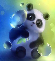 Baby panda bubble