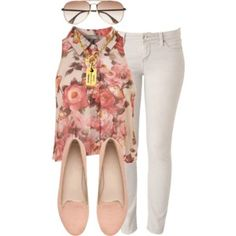 teen outfits summer floral