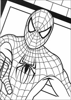 Spiderman 012 coloring page