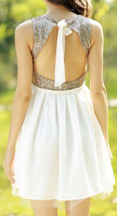 Backless sparkle dress love it Cute Dresses, Beautiful Dresses, Cute Outfits, Love Fashion, Fashion Beauty, Womens Fashion, Fashion Trends, Girly, Open Back Dresses