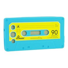 Old Style Magnetic Cassette Tape Soft Silicon Back Cover Case for Samsung I9300 Galaxy S III S3 - Light Blue US$2.69