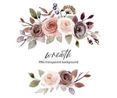 Free Advertising, Flower Clipart, Frame Wreath, Print Templates, Watercolor Flowers, Party Invitations, Floral Wreath, Bouquet, Greeting Cards
