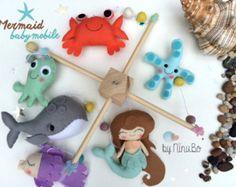 Pesce di sirena bambino Mobile The Little Mermaid Baby di mukibaba