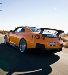 """Orange Crush""  Nissan GT-R. Find out your #dreamcar crush here.... www.ebay.co.uk/motors/garage/profile/3684071/2010-Nissan-GT-R?roken2=ta.p3hwzkq71.bsports-cars-we-love #GTR #spon"
